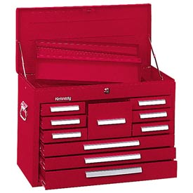 "Kennedy® 360R 26"" 10-Drawer Mechanics Chest - Red"
