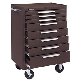 "Kennedy® 378XB 27"" 8-Drawer Roller Cabinet w/ Ball Bearing Slides - Brown"