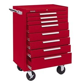 "Kennedy® 378XR 27"" 8-Drawer Roller Cabinet w/ Ball Bearing Slides - Red"