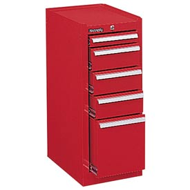 "Kennedy® 386XR 18"" 6-Drawer Hang-On Cabinet - Red"
