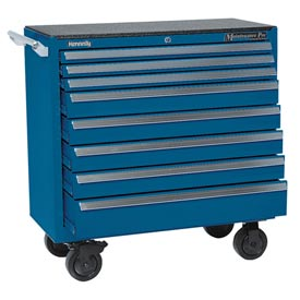 "Kennedy 3900MPBL 39"" 8-Drawer Roller Cabinet Blue"