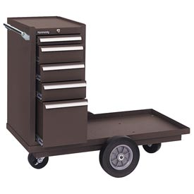 "Kennedy® 435B 43"" 5-Drawer Versa-Cart w/ Friction Slides - Brown"