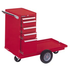 "Kennedy® 435R 43"" 5-Drawer Versa-Cart w/ Friction Slides - Red"