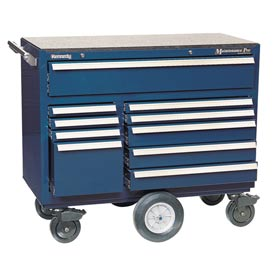 "Kennedy® 4400MPBL 44"" 10-Drawer Roller Cabinet - Blue"