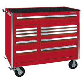 """Kennedy® 46"""" 11-Drawer Roller Cabinet - Red"""