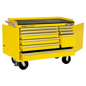 "Kennedy® 4800MPYW 48"" 10-Drawer Industrial Mobile Bench - Yellow"