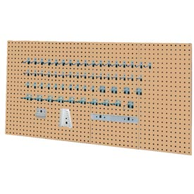 Kennedy Manufacturing, 50004TX, 4-Panel Square Hole Toolbaord Set w/ 60-Piece Toolholder Set - Tan