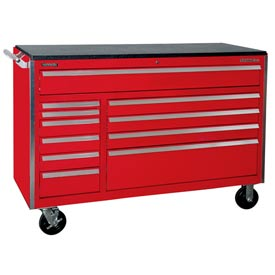 "Kennedy® 60"" 11-Drawer Roller Cabinet - Red"