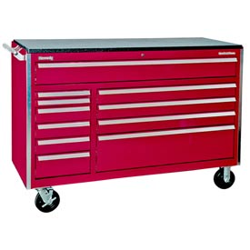 "Kennedy® 60"" 11-Drawer Cabinet - Burgundy"
