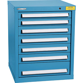 "Kennedy HDS Modular Drawer Cabinet 7124UB - Compact 7 Drawer 25""W x 24""D x 32 Blue"