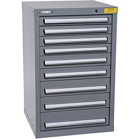 "Kennedy HDS Modular Drawer Cabinet 7129UGY - Compact 9 Drawer 25""W x 24""D x 40 Gray"