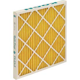"Koch™ Filter 102-500-031 Merv 11 High Cap. Xl11 Pleated Panel Ext. Surface 24""W x 24""H x 4""D - Pkg Qty 6"