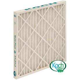 "Koch™ Filter 102-714-003 Merv 13 High Capacity Ext Surface Multi-Pleat Green 14""W x 20""H x 1""D - Pkg Qty 12"