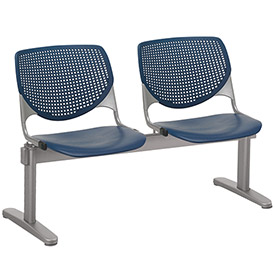 KFI Beam Seating Guest Chairs - 2 Seater - Navy