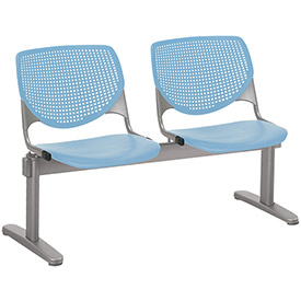 KFI Beam Seating Guest Chairs - 2 Seater - Sky Blue