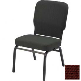 KFI Oversized Church Chair - Armless - Stacking - Maroon Fabric/Black Frame