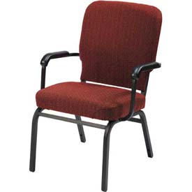 KFI Oversized Church Chair with Arms - Stacking - Toreador Fabric/Black Frame