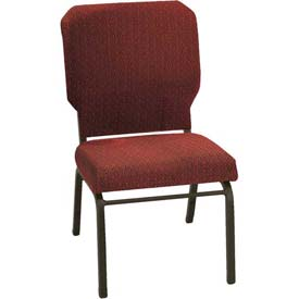 "Kfi Church Stacking Chair, 3"" Box Seat, Toreador Fabric/Black Frame"