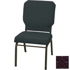 "Kfi Church Stacking Chair, 3"" Box Seat, Aubergine Fabric/Black Frame"