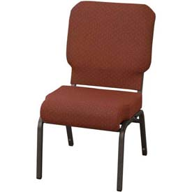 "Kfi Church Stacking Chair, 3"" Front Roll Seat, Toreador Fabric/Black Frame"