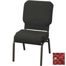 "Kfi Church Stacking Chair, 3"" Front Roll Seat, Poppy Fabric/Black Frame"