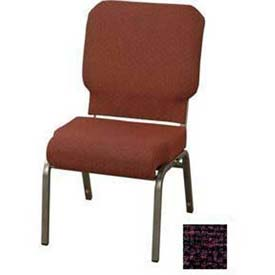 "Kfi Church Stacking Chair, 3"" Front Roll Seat, Amethyst Fabric/Silver Vein Frame"