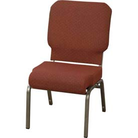 "KFI Church Chair with Front Roll Seat - Armless - Stacking - 3"" Toreador Fabric, Silver Vein"