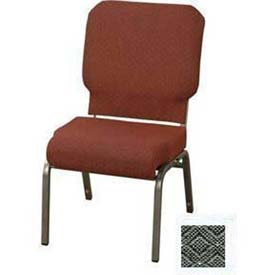 "KFI Church Chair with Front Roll Seat - Armless - Stacking - 3"" Pewter Fabric/Silver Vein Frame"