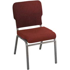 Kfi Heavy Duty Wing Back Stacking Chair, Toreador Fabric/Silver Vein Frame