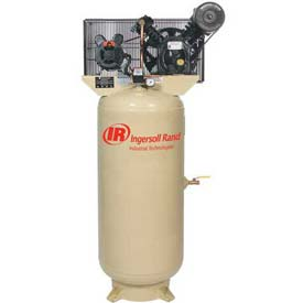 Ingersoll Rand Two-Stage Electric Air Compressor 2475N5-V-200-3, 200V, 5HP, 3PH, 80 Gal