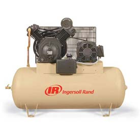 Ingersoll Rand Two-Stage Electric Air Compressor 2545E10-V-200-3, 200V, 10HP, 3PH, 120 Gal
