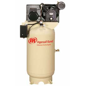 Ingersoll Rand Two-Stage Electric Air Compressor 2545K10-V-200-3, 200V, 10HP, 3PH, 120 Gal