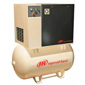 Ingersoll Rand Rotary Screw Air Compressor UP65-125230/1120, 230V, 5HP, 1PH, 120 Gal