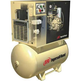 Ingersoll Rand Rotary Screw Air Compressor W/Dryer UP65TAS-125460/380, 460V, 5HP, 3PH, 80 Gal