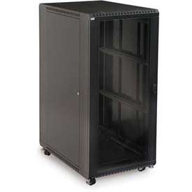 "Kendall Howard™ 27U LINIER® Server Cabinet - Glass/Vented Doors - 36"" Depth"