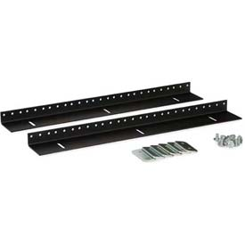 Kendall Howard™ 9U Wall Mount Vertical Rail Kit - 10-32 Tapped