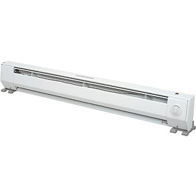 King Portable Baseboard Heater KP1210, 1000W, 120V, 4FT,W/Thermostat, White