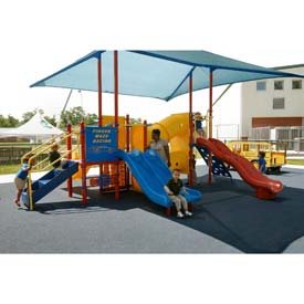 Playsystem W/Sun Shade In Red/Yellow/Blue Combination, For Ages 2-5