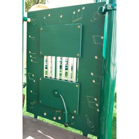 Chime Activity Panel - Freestanding In Green/White Combination, For Ages 2-12
