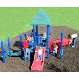 Playsystem W/Pyramid Roofs In Blue/Green/Red Combination, For Ages T-5  (15Mo-5Yr)
