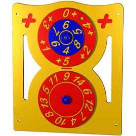 Addition Activity Panel - Freestanding In Red/Yellow/Blue Combination, For Ages 5-12