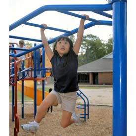 Freestanding Up And Down Overhead Ladder In Blue/Red Combination, For Ages 5 To 12