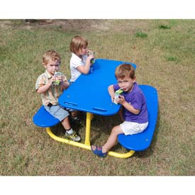 Tot Picnic Table In Blue/Yellow Combination, For Ages 2-5