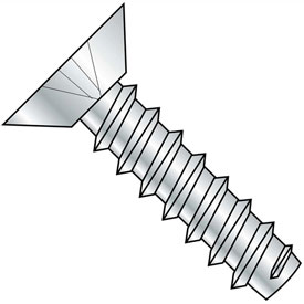 #2 x 1/4 Phillips Flat Undercut Self Tapping Screw Type B Fully Threaded Zinc Package of 10000 by