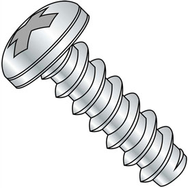 #4 x 1/4 Phillips Pan Self Tapping Screw Type B Fully Threaded Zinc Bake Package of 10000 by