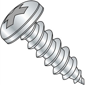 #5 x 5/8 Phillips Pan Self Tapping Screw Type AB Fully Threaded Zinc Bake Package of 10000 by
