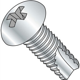 6-32X3/8  Phillips Round Thread Cutting Screw Type 23 Fully Threaded Zinc, Pkg of 10000