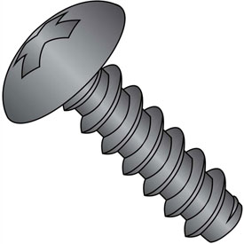 #6 x 3/8 Phillips Full Contour Truss Self Tapping Screw Type B FT Black Oxide - Pkg of 10000