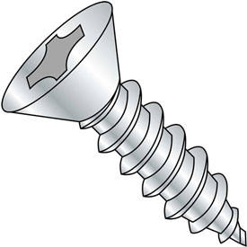 #7 x 7/8 Phillips Flat Self Tapping Screw Type A Fully Threaded Zinc Bake Package of 10000 by