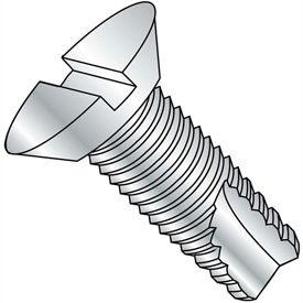8-32X3/8  Slotted Flat Undercut Thread Cutting Screw Type 23 Fully Threaded Zinc, Pkg of 8000